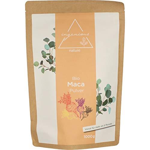 Unsere Empfehlung: Bio Maca Pulver Mix 1000g - aus den vier Maca Sorten gelb, rot, lila und schwarz, roh, aus Peru. Angebaut auf über 4400m.
