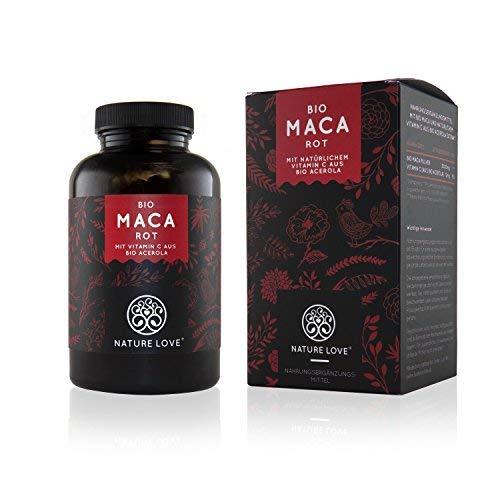Bio Maca Kapseln mit 3000 mg Bio Maca rot pro Tagesdosis. 180 Kapseln. Mit natrlichem Vitamin C. Ohne Zustze wie Magnesiumstearat. Zertifiziert Bio, hochdosiert, vegan, hergestellt in Deutschland